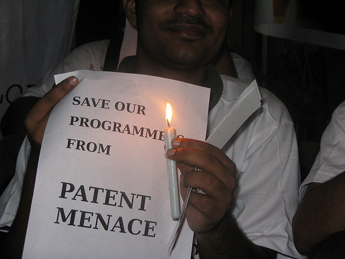 Software patents protest in India