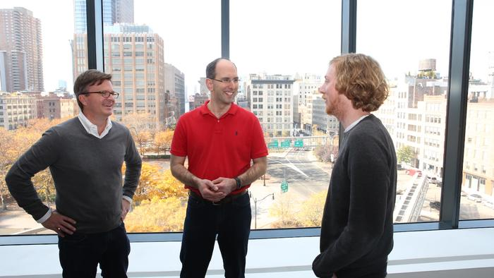 Jim Zemlin (Linux Foundation), Scott Guthrie (Microsoft), and GitHub's founder Chris Wanstrath the day Microsoft joined (paid) the Linux Foundation