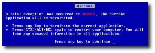 BSoD for Novell