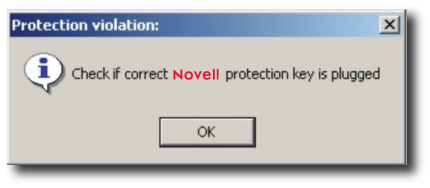 Novell error message