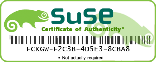 SUSE Genuine Advantage