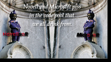 Novell and Microsoft piss on GNU/Linux codebase