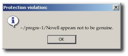 Novell is not genuine (prompt)