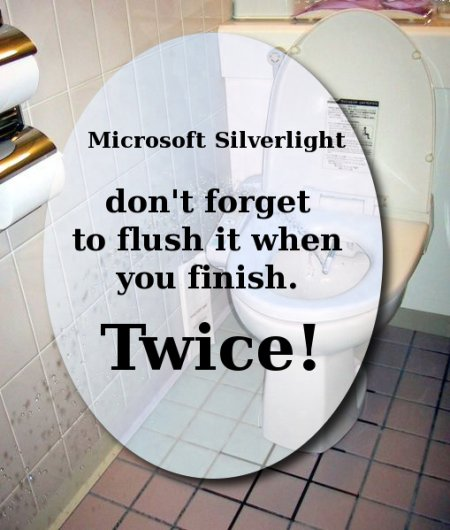 Silverlight toilet