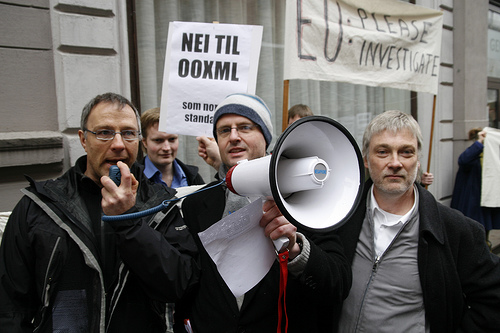 Protests in Norway (OOXML)