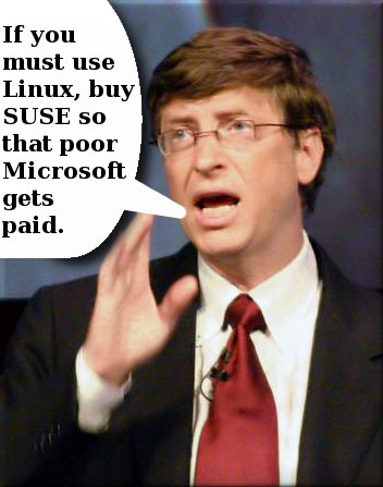 Bill Gates and SUSE