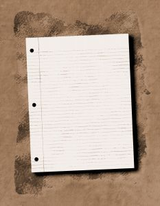 Notebook on sand