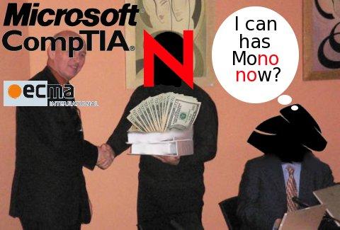 Mono, ECMA, Microsoft