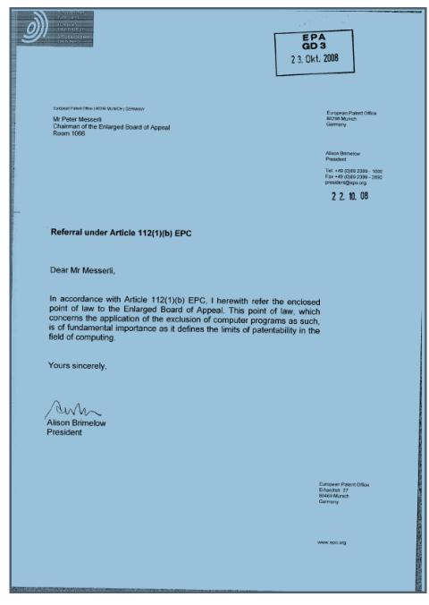 EPO letter