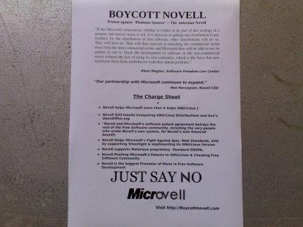Boycott Novell in India