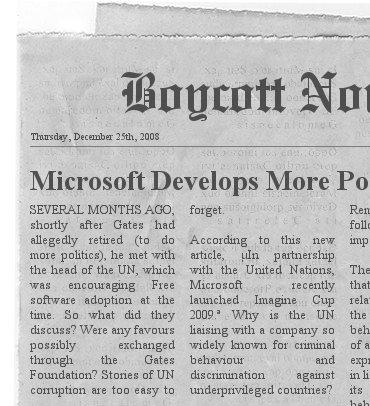 UN-Microsoft headline