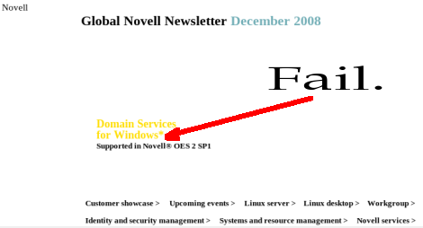 The Novell newsletter