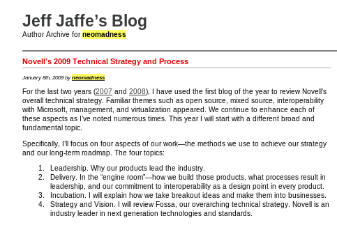 Jeff Jaffe's blog