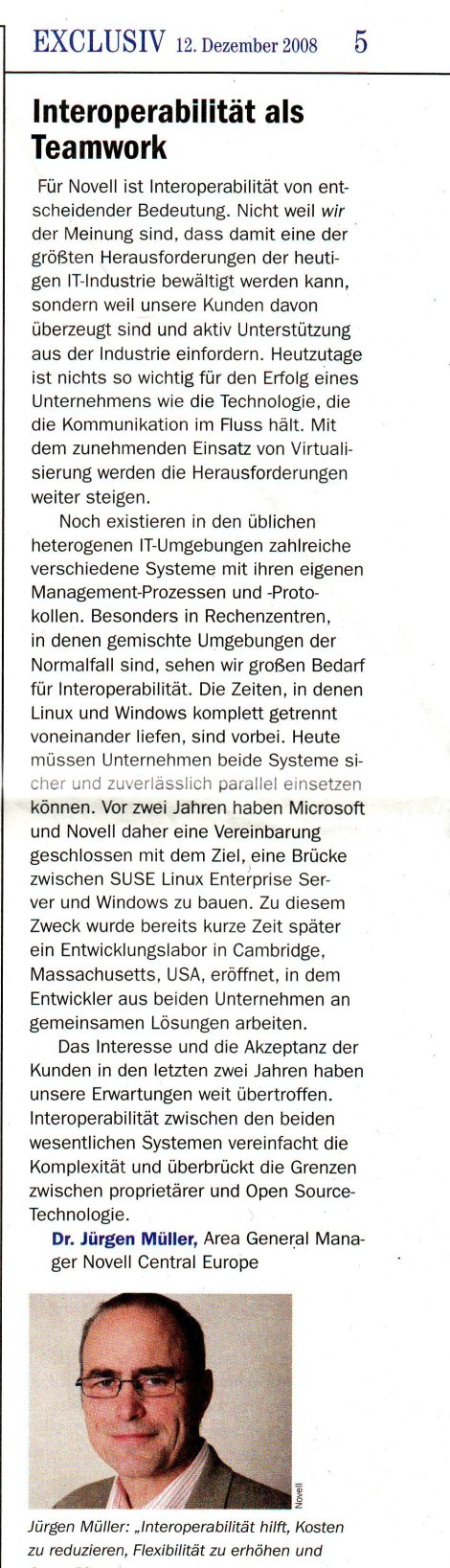 Germany column about Novell-Microsoft