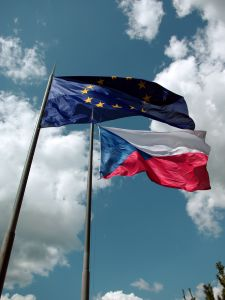 Czech Republic and EU flags