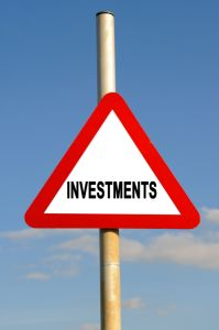 Investments sign