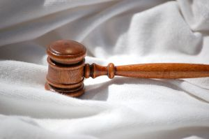 Gavel in silk