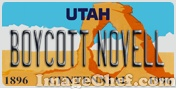 Licence plate from Utah