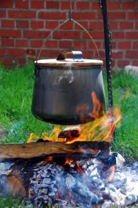 Kettle over the fire