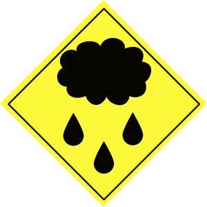 Weather rain sign