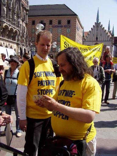 Stallman at protest
