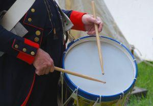 Drummer hands with sticks