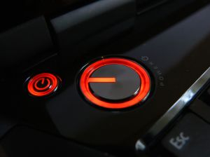 Power button red