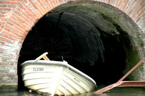 Boat in a tunnel