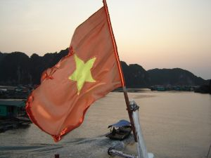 Vietnam flag at How Lung Bay