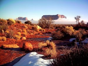 Winter morning - Monument Valley