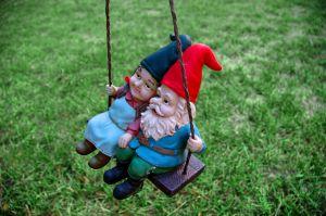 Gnomes swinging