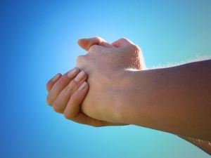 Pleading hands