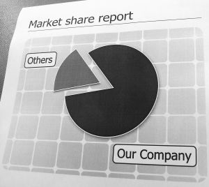 Market share report - a pie chart
