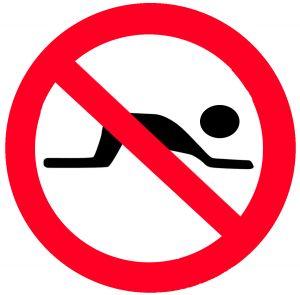 No kneeling