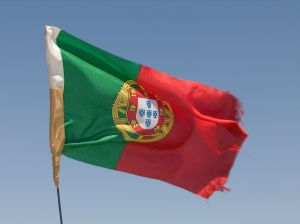 Portuguese flag in daylight