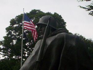 Look back at Korean War Memorial in Washington, DC