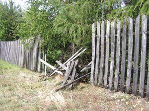 Broken fence