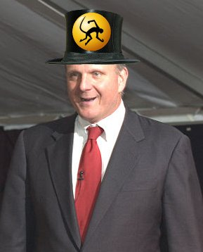 Ballmer with Ximian hat