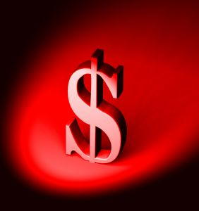 Dollar red symbol