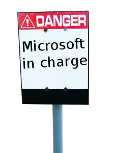 Danger sign for Microsoft