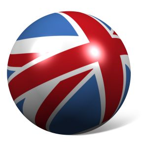 Union flag as globe