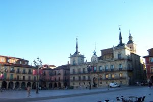 Plaza Mayor Leon, Spain