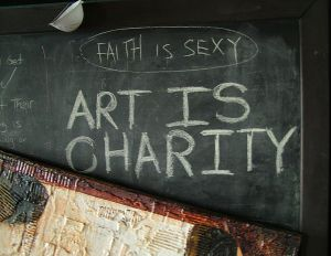 Art is charity