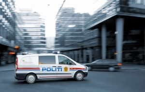 Police car in Oslo