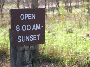 Open until sunset