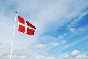 The Danish flag
