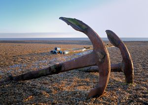 Beach scenes in Suffolk England