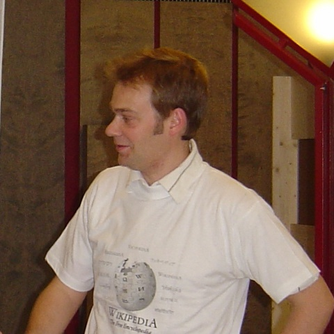 Matthias Ettrich at LinuxTag 2005