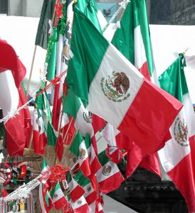 Many Mexican flags
