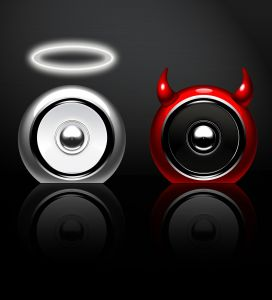 Speaker angel vs devil